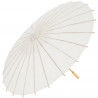 OMBRELLO bambu BIANCO 42 CM carta ACCESSORI SPOSA WEDDING MATRIMONIO SHABBY CHIC DECORAZIONI PARASOLE OMBRELLINO 003