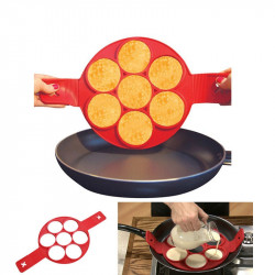 STAMPO IN SILICONE PER PANCAKES CUCINA FRITTELLE ANTIADERENTE PADELLA OMELETTE
