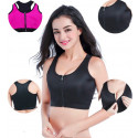 REGGISENO SPORTIVO DONNA CON ZIP TAGLIA L/XL TOP HOT SHAPER IN NEOPRENE FASCIA TRAINING DIMAGRANTE PALESTRA SAUNA SUDA FITNESS