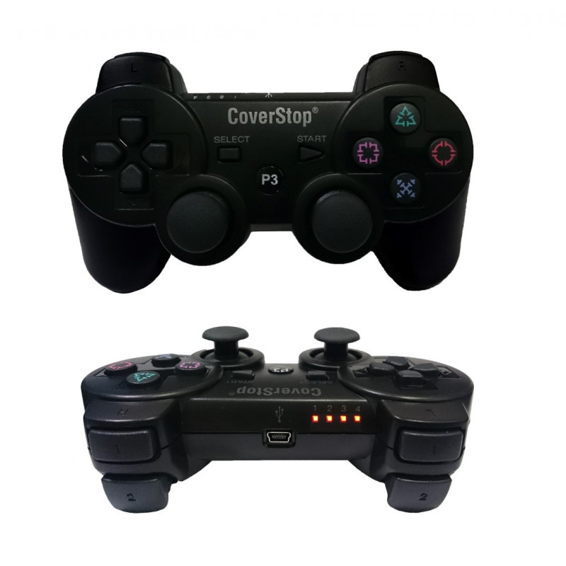 JOYSTICK JOYPAD CON FILO WIRED COMPATIBILE PS3 PER PLAYSTATION 3 CONTROLLER NERO