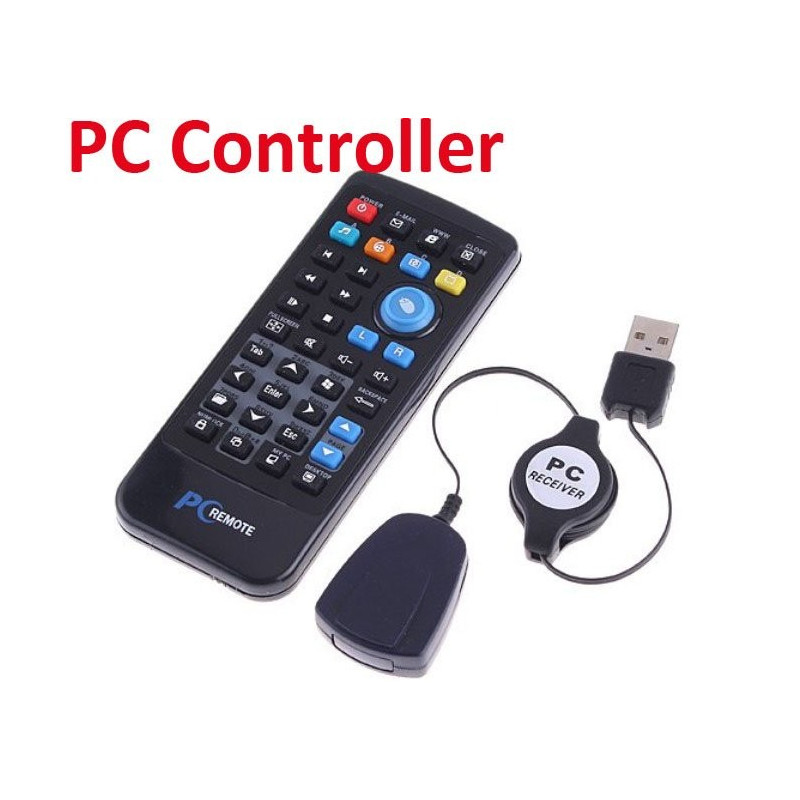 TELECOMANDO MOUSE SENZA FILI PER PC DISTANZA 10 METRI REMOTE WIRELESS COMANDARE DESKTOP